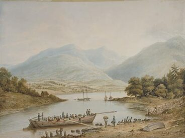 Image: Colonists leaving for Otago, 1847