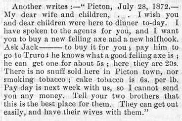 Image: Letters from happy English immigrants