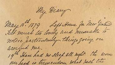 Image: A shipboard diary
