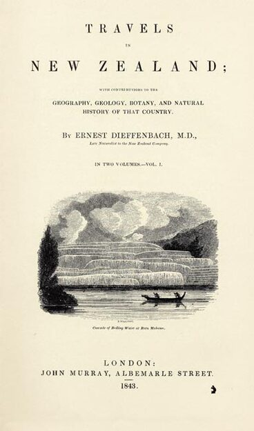 Image: Dieffenbach's account of New Zealand