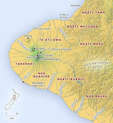 Image: Tribal groups in Taranaki