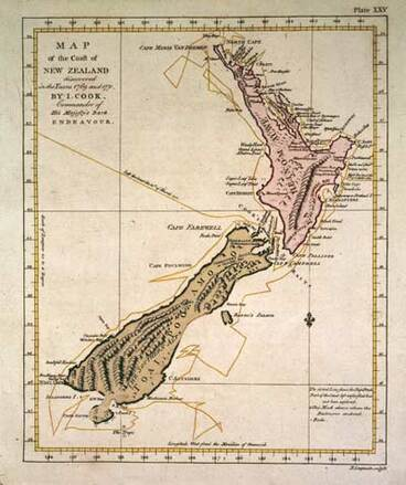 Image: Cook's map of New Zealand, 1773