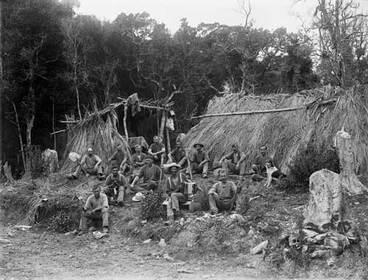 Image: Kauri gum diggers' camp