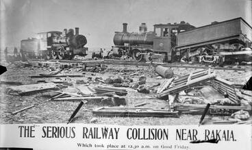 Image: Rakaia rail accident, 1907