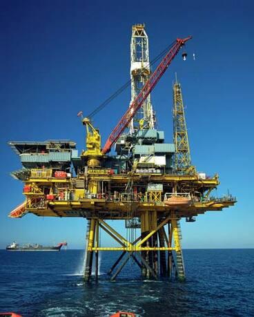 Image: Māui gas platform