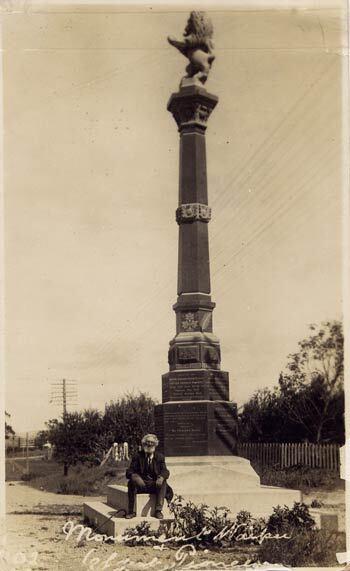 Image: Waipū's memorial to its Scottish pioneers