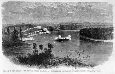 Image: Gunboat on the Waikato River