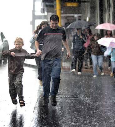Image: Caught in the rain