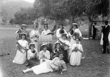 Image: Temperance Ladies' Brass Band