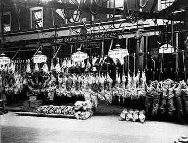 Image: Frozen meat carcasses