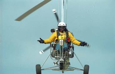 Image: A gyrocopter