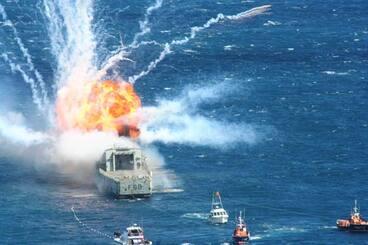 Image: Sinking the Wellington