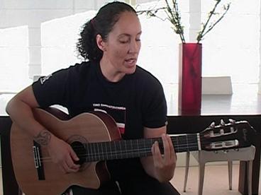 Image: Making Music - Moana Maniapoto