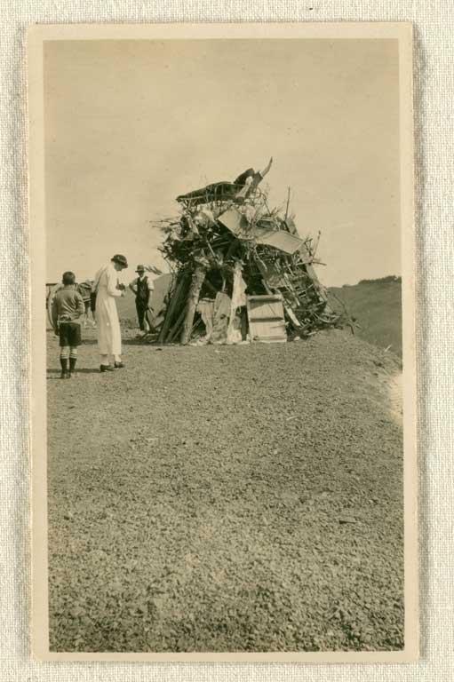 Armistice bonfire 1918