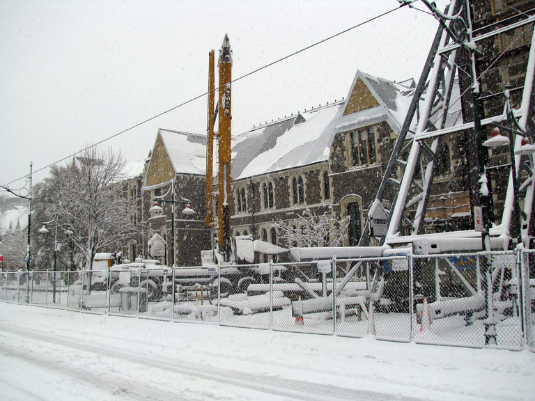 Snow at the Arts Centre