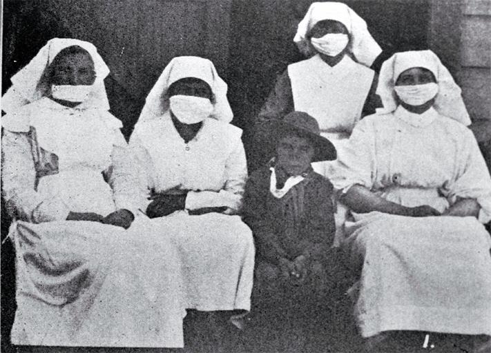 Nurses at Maori Hospital, Temuka, South Canterbury
