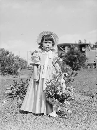[Portrait of a flower girl]