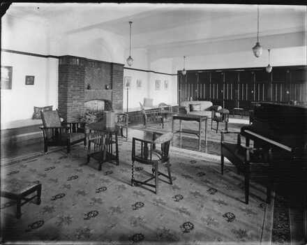 Interior of lounge, King's College?