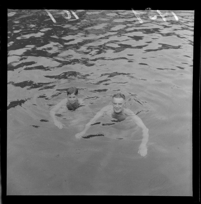 Swimmers, Mr J C Blakley and son, Colin