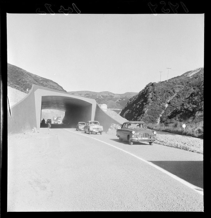Construction of the Johnsonville Bypass, Ngauranga Gorge, Wellington