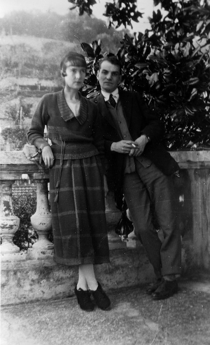 Katherine Mansfield and John Middleton Murry at the Villa Isola Bella, Menton, France