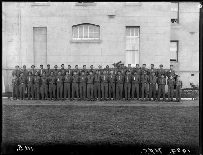 Maori Agricultural College School junior boys, Te Hauke, Kahuranaki, Hawke's Bay District