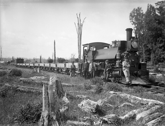 Public Works train at the Skinner Road ballast pit, near Stratford