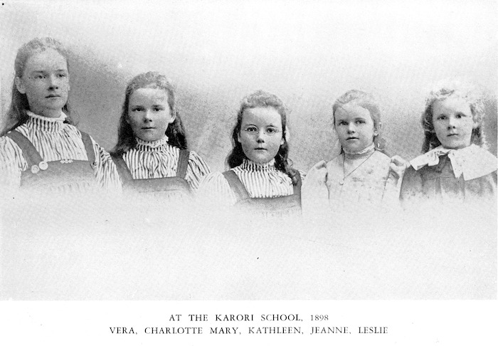 Portrait of the young Katherine Mansfield with her brother and sisters