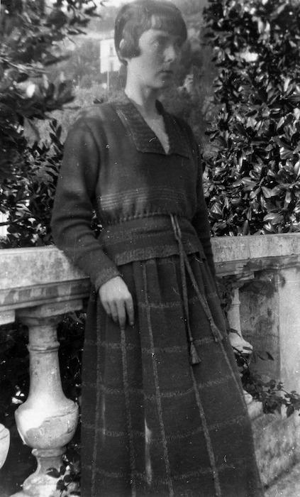 Katherine Mansfield at the Villa Isola Bella, Menton, France