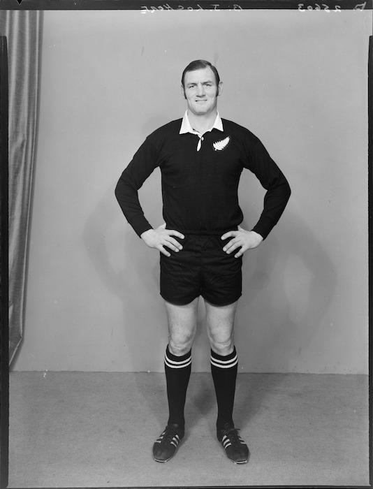 B J Lochore, member of the All Blacks, New Zealand representative rugby union team