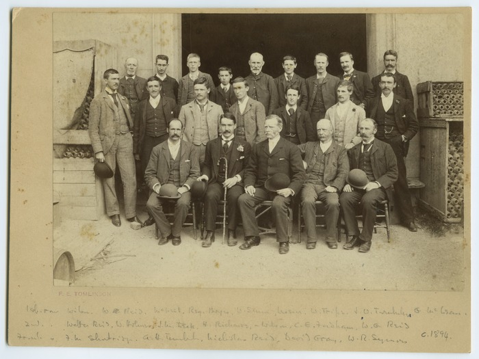 Tomlinson, Francis Ernest, 1864-1944: Members and staff of W & G Turnbull and Company including Alexander Turnbull