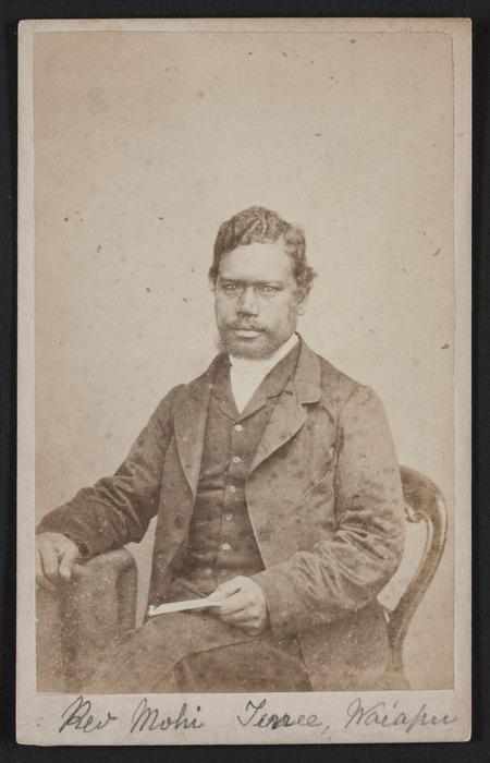 Swan & Wrigglesworth (Wellington & Napier) fl 1864-1870 :Portrait of Rev Mohi Turei