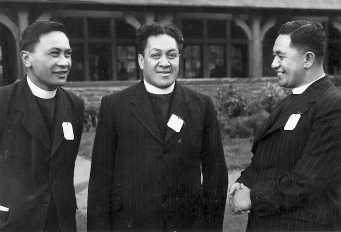 Weigel, William George, 1890-1980 : Reverends Hoepa Taepa, Wi Te Tau Huata and Rimu Hamiora Rangiihu