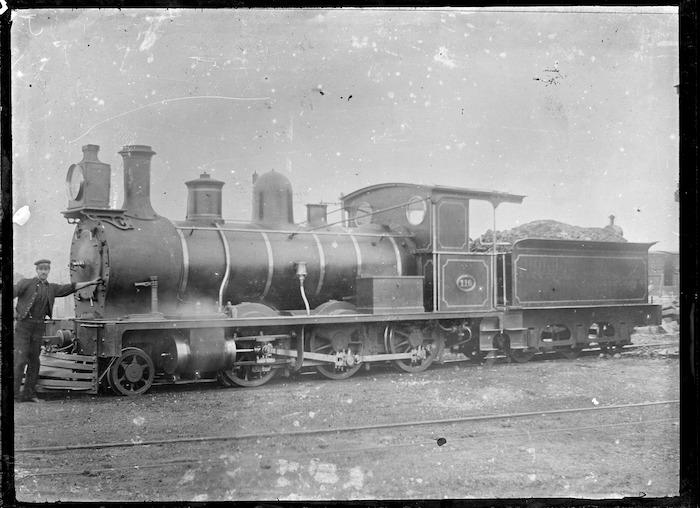 J class steam locomotive, NZR 110, 2-6-0 type.