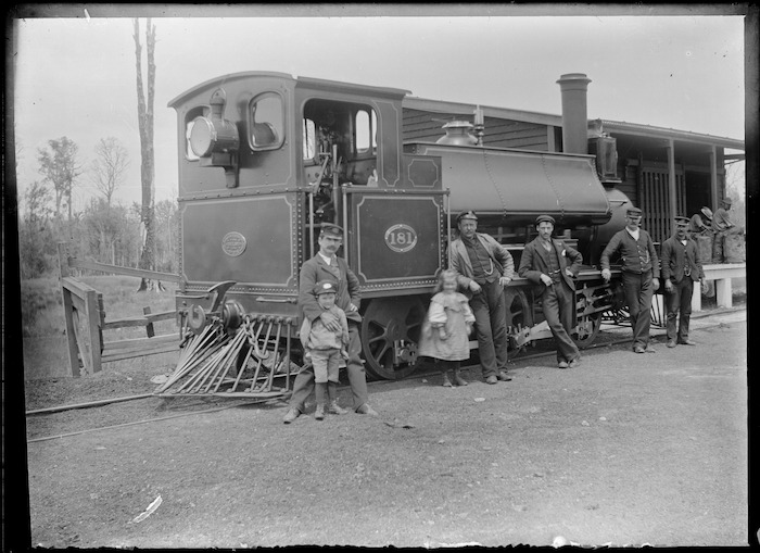 F Class locomotive, NZR 181, 0-6-0T type.