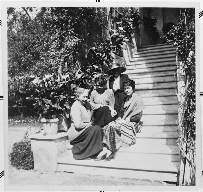 Katherine Mansfield at the Villa Flora, Menton, France