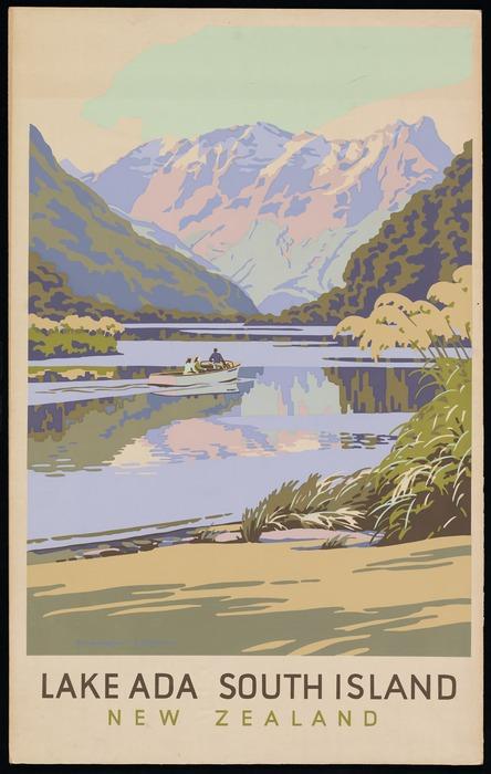 King, Marcus, 1891-1983 :Lake Ada, South Island, New Zealand [ca 1950] - Alexander Turnbull Library - TAPUHI, Ephemera
