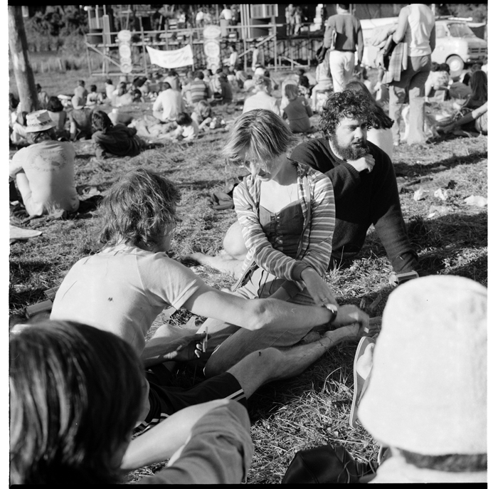Scenes, possibly at the Waikino Music Festival in January 1977