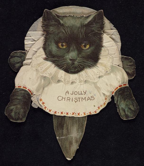 A jolly Christmas [Cat Christmas card. ca 1900]