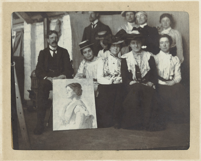 A group of men and women artists
