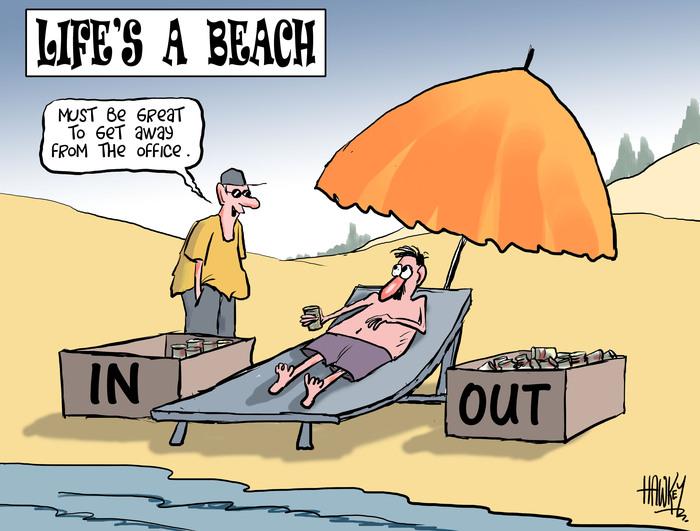 Life's a beach. 11 January 2011
