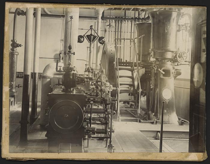 Machinery inside the Wellington Meat Export Company, Ngauranga Gorge