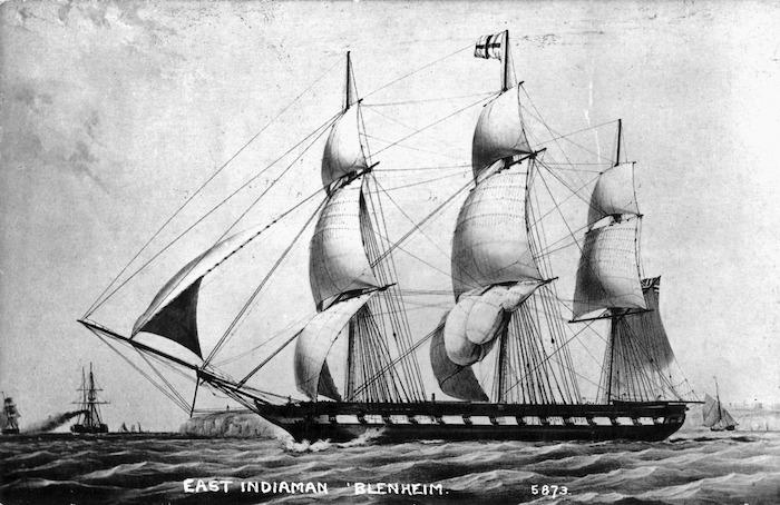 London to India trade sailing ship 'Blenheim'.