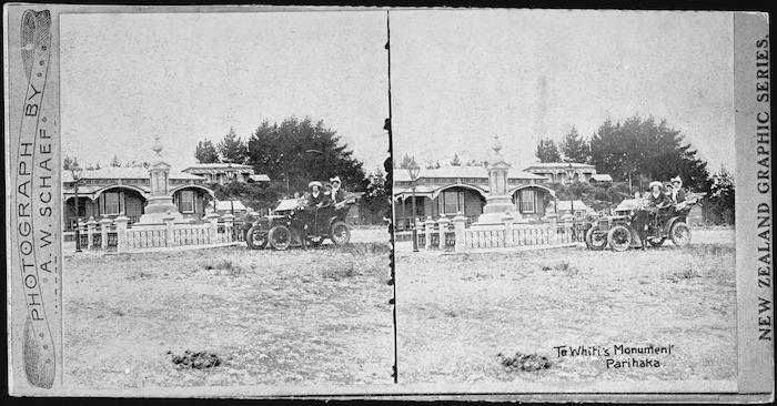 Schaef, A W :Te Whiti's Monument, Parihaka