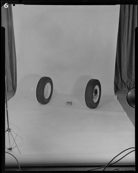 Car tyres in studio
