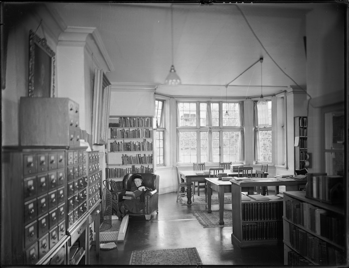 Reading room of the Alexander Turnbull Library, Wellington