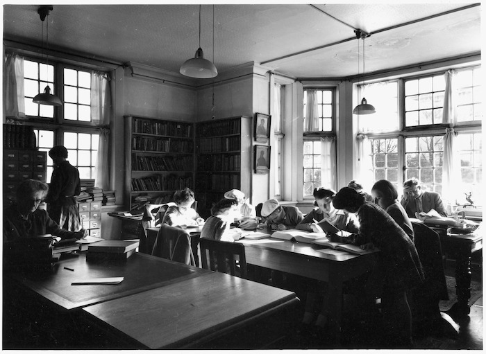 Reading room interior, Alexander Turnbull Library, Wellington