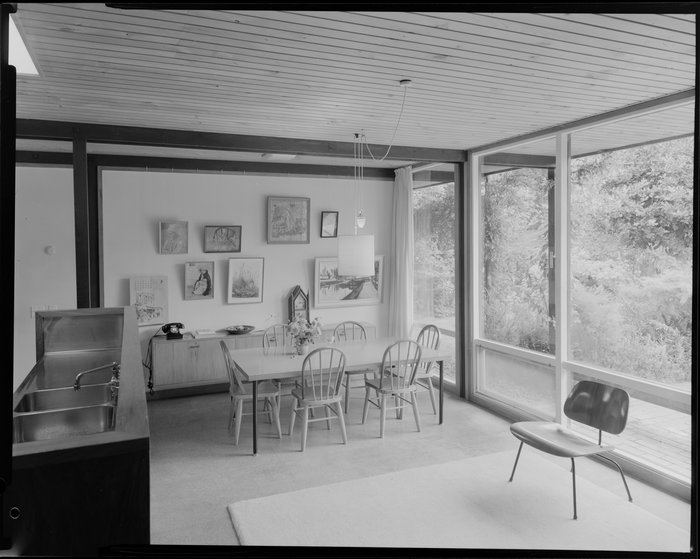 Dining room of Alington house, 60 Homewood Crescent, Karori, Wellington
