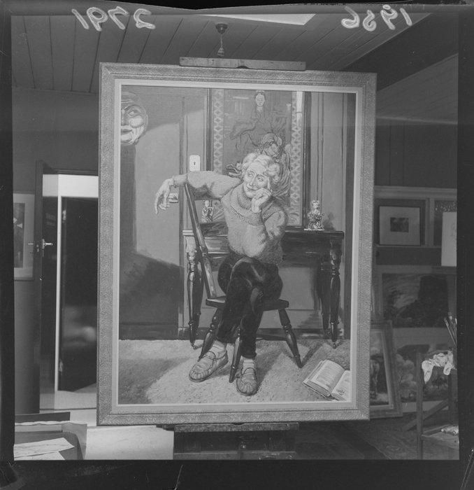 Portrait of Dame Ngaio Marsh, by Leonard Mitchell