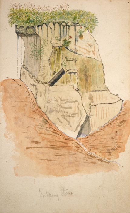 Carver, Robert William Ind 1838-1907 :Dripping stone ; Sunday Island] / R W I C [1892?]